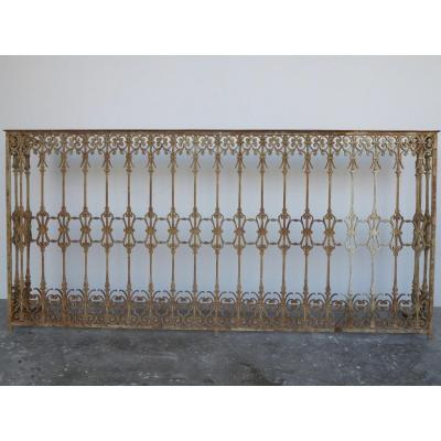 Cast Iron Balcony Mounted On A Wrought Iron Frame
