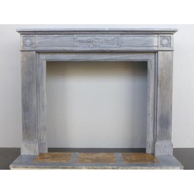 First Empire Style Turquin Blue Marble Fireplace