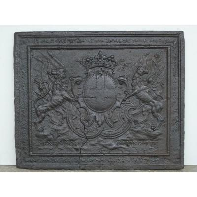 Fireback With The Arms Of The Family Of Lenoncourt De Blainville, Dated 170?