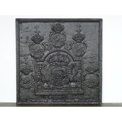 Fireplace Plate With The Arms Of Leopold I Duke Of Lorraine And Bar