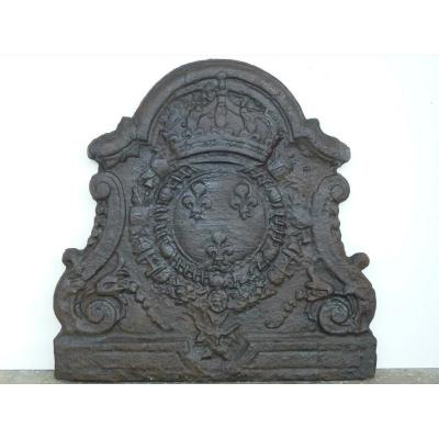 Chminée Plaque With The Arms Of France, Early 18th Century (74 X 75 Cm)