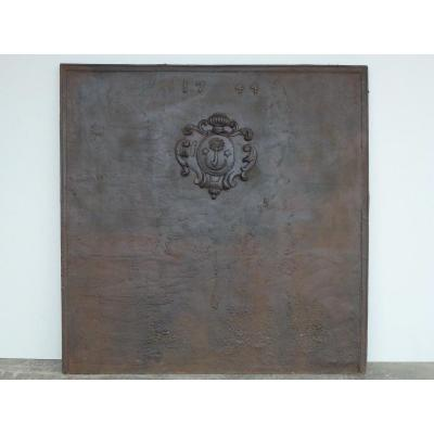 Important Fireback Dated 1744 (128x129 Cm)