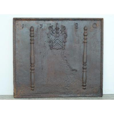 Fireback Dated 1780 With Affry's Arms (81x71 Cm)
