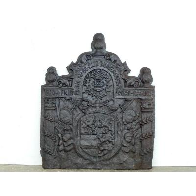 Fireback With The Arms Of Georges Frédéric Louis Nassau-siegen (74x88 Cm)