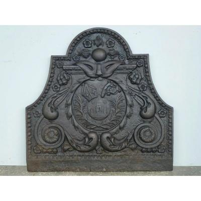 Fireback With The Coat Of Arms Of The Abbey Of The Three Fountains