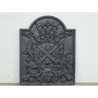 Fireback With The Le Féron Family Coat Of Arms