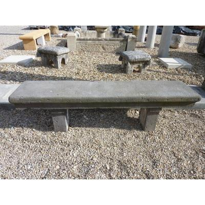 Double-sided Lava Stone Bench