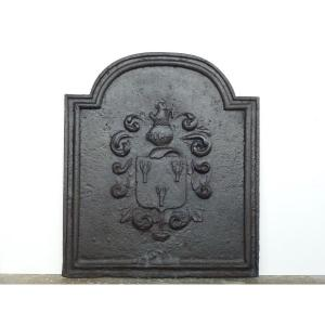 Fireback With The Arms Of The De Pioger Family (79x91 Cm)