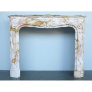 Regency Style Yellow Sienna Marble Fireplace