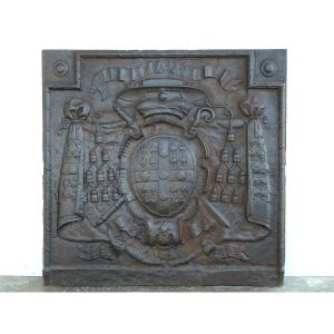 Fireplace Plate With The Arms Of Louis-joseph De Montmorency-laval (97x95 Cm)