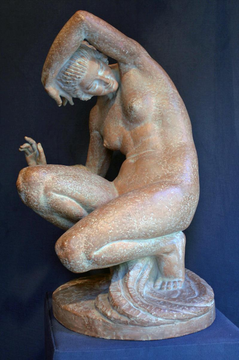 Sculpture Terracotta From Marcel Bouraine (1886-1948)