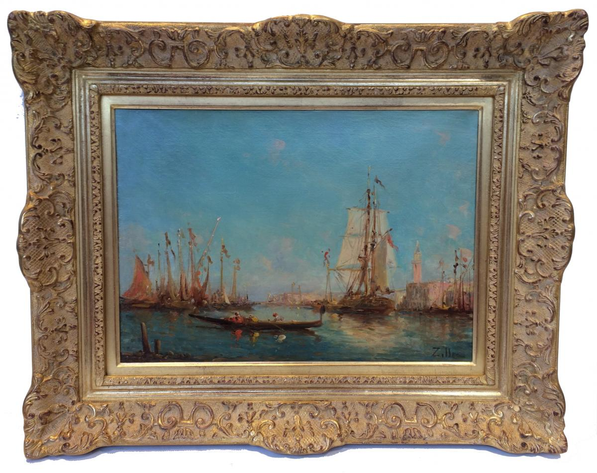Leopold Ziller Views Of Venice And Istanbul In Pair - 19th Century Paintings-photo-2