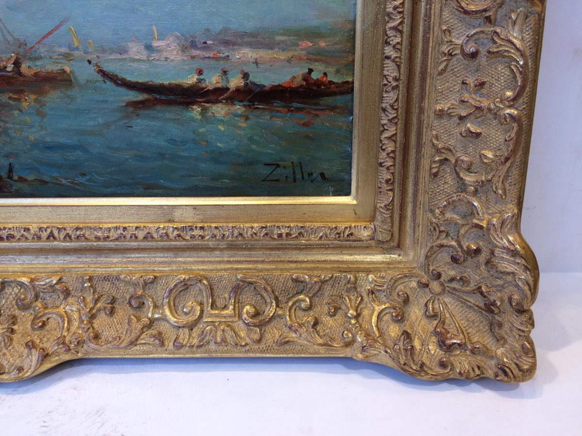 Leopold Ziller Views Of Venice And Istanbul In Pair - 19th Century Paintings-photo-1