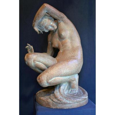Sculpture Terracotta From Marcel Bouraine (1886-1948)