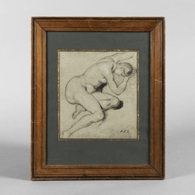 Octave Tassaert (1800-1874) - Female Nude