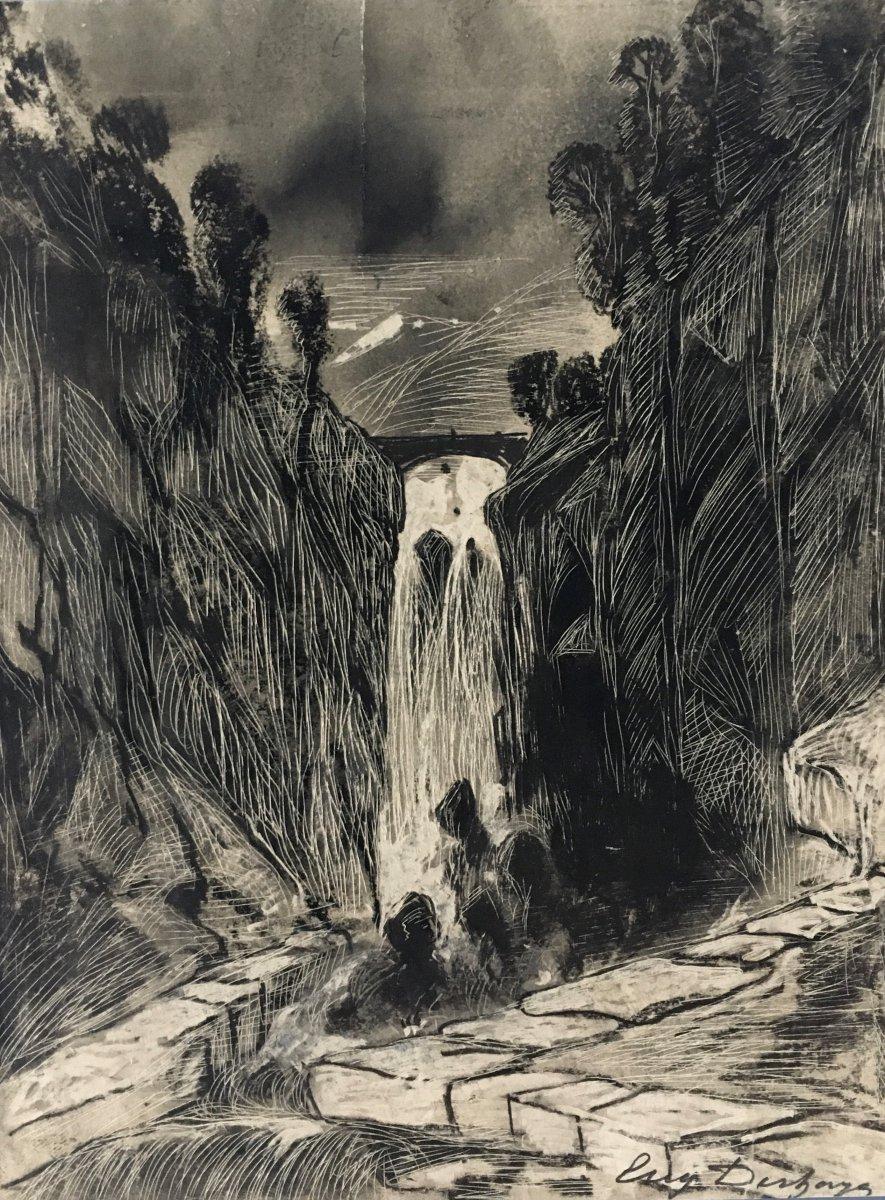 Eugène Deshayes (1828-1891) - Cliffs