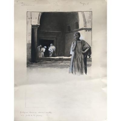 Manuel Orazi (1860-1934) - Projet d'Illustration