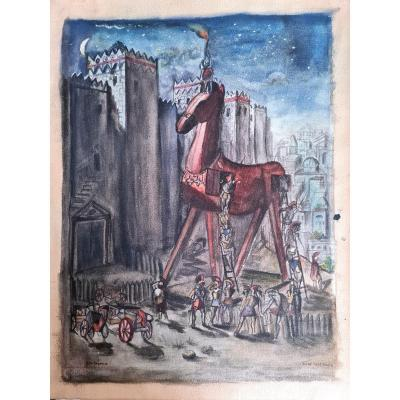 Georges Rochegrosse (1859-1938) - The Trojan Horse