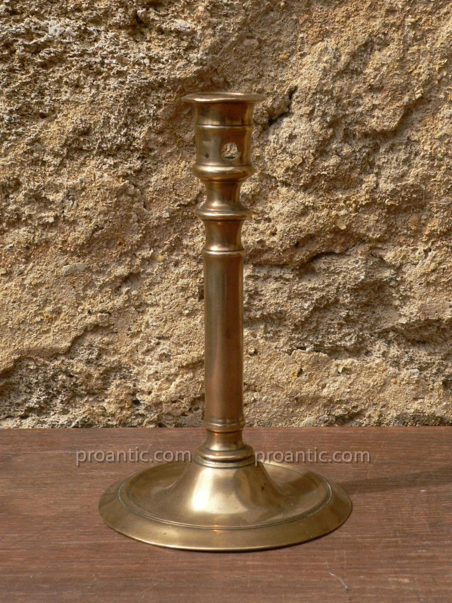 Gothic Candlestick In Bronze France XVIth Century