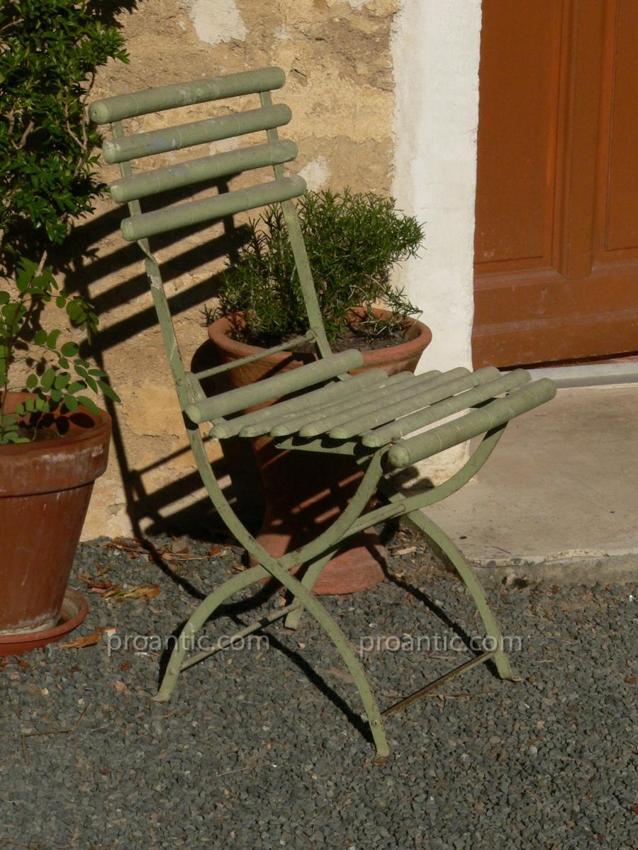 Chaise De Jardin Ancienne XIXe Model Bambou 1880