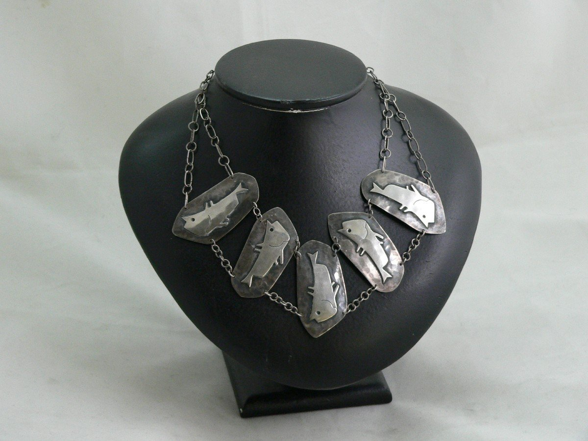 20th Century Design Sterling Silver Necklace