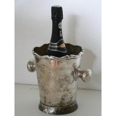 Seau A Rafraîchir, à Bouteille/champagne XIXe De La Compagnie Des Indes