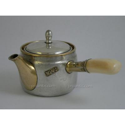 Teapot Selfish Circa 1890 Art Nouveau Sterling Silver American