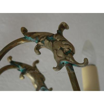 Dutch Style Chandelier 6 Lights, Dolphins In Bronze