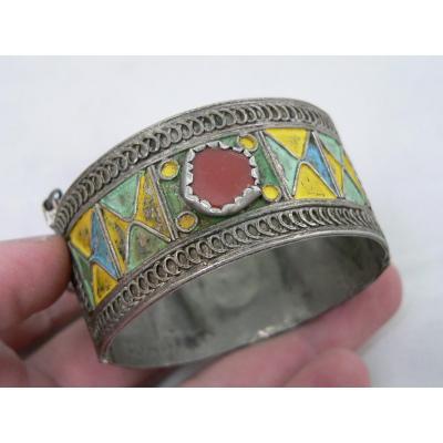 Bracelet Ethnique Argent Massif  Afrique Du Nord/maghreb XIXe