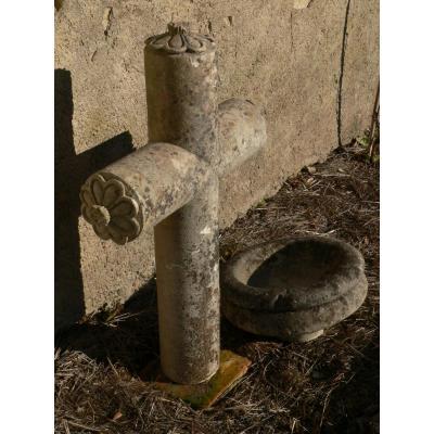Croix En Pierre Sculptée XVIIIe Louis XVI élément De Chapelle/calvaire