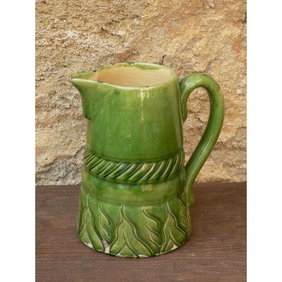 Pottery Pitcher Glazed Terracotta From Maine XVIII