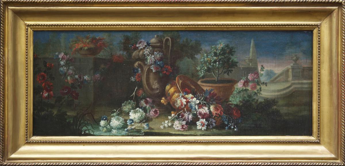 Lopez, Gaspare - Nature Morte à l'Obélisque - Italie, XVIIe Siècle