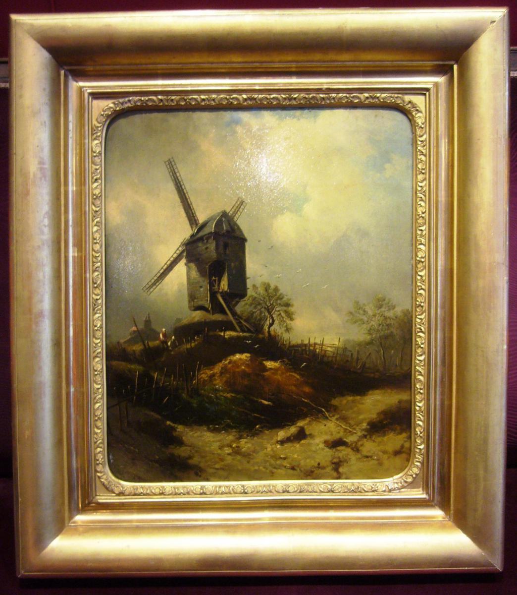 Paysage animé au moulin, suiveur de Georges Michel