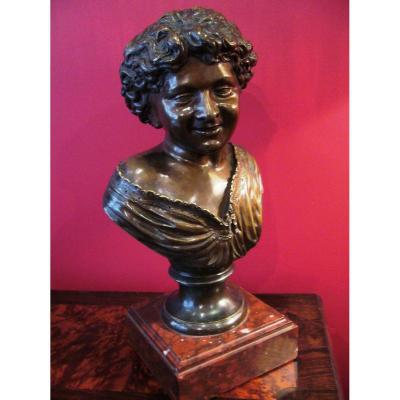 Buste en bronze d'un jeune garçon