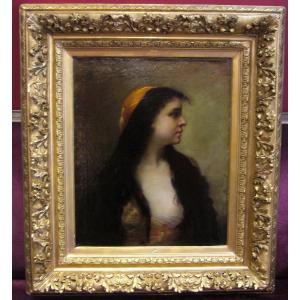 Portrait d'une jeune orientale, Girard de Saint-Jean