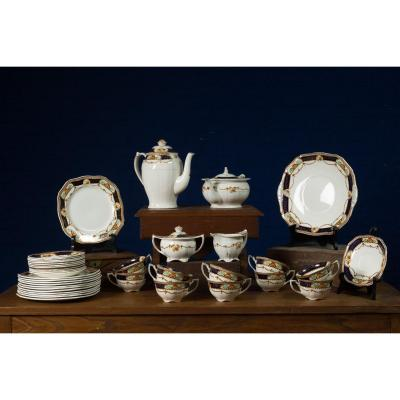 Set Of 39 Alfred Meakin Ceramics Line 'caledonia', Gold Finish