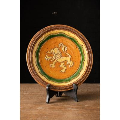 Decorative Plate With Lion