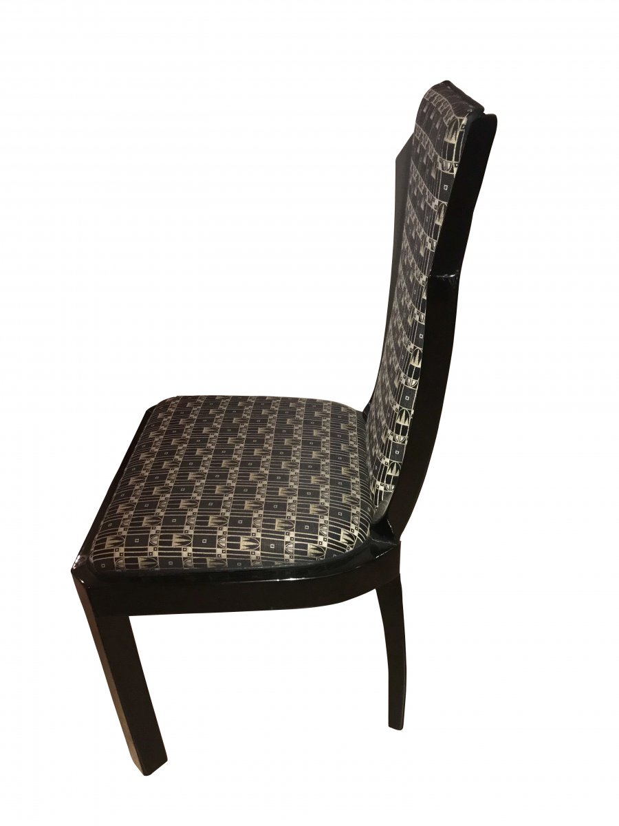 Set Of Six Art Deco Dining Room Chairs, France Circa 1930-photo-1