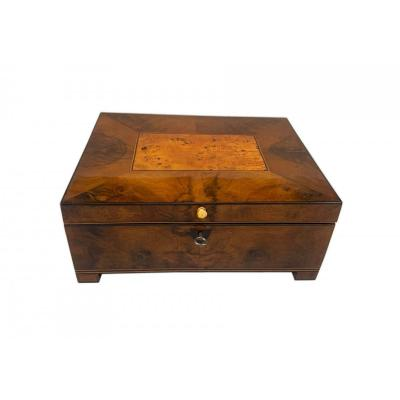 Biedermeier Box With Interior, Walnut, Birch, Cherry, Maple, Vienna, Circa 1820