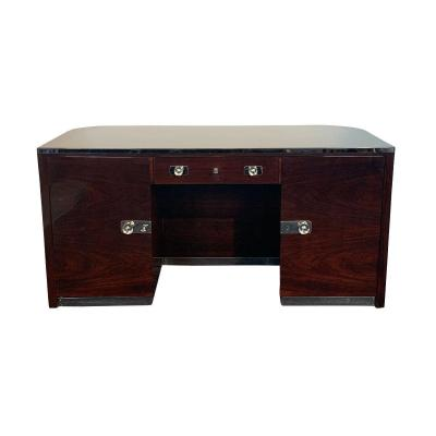 Original Bauhaus Desk By Erich Diekmann, Restored, Rosewood, Germany Circa 1925