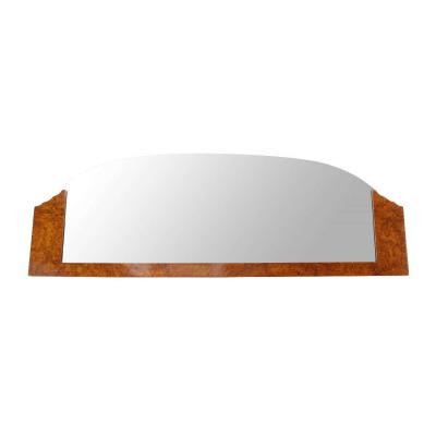Art Deco Mirror, Thuya Roots Veneer, France, Circa 1930