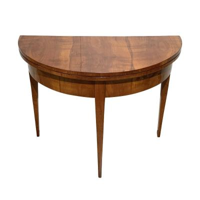 Biedermeier Demi-lune Folding Table, Cherry, South Germany Circa 1825