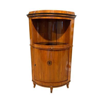 Biedermeier Corner Cabinet, Cherry Veneer, South Germany Circa 1820