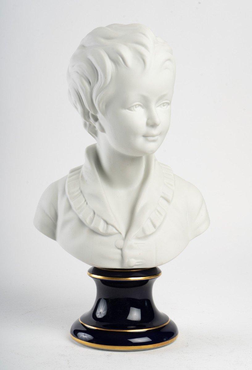 D'après Houdon - Buste d'Alexandre Brongniart (1770 - 1847) - Biscuit - Camille Tharaud Limoges