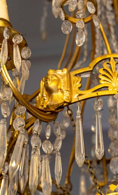 Chandelier Return From Egypt Bronze And Crystal-photo-2