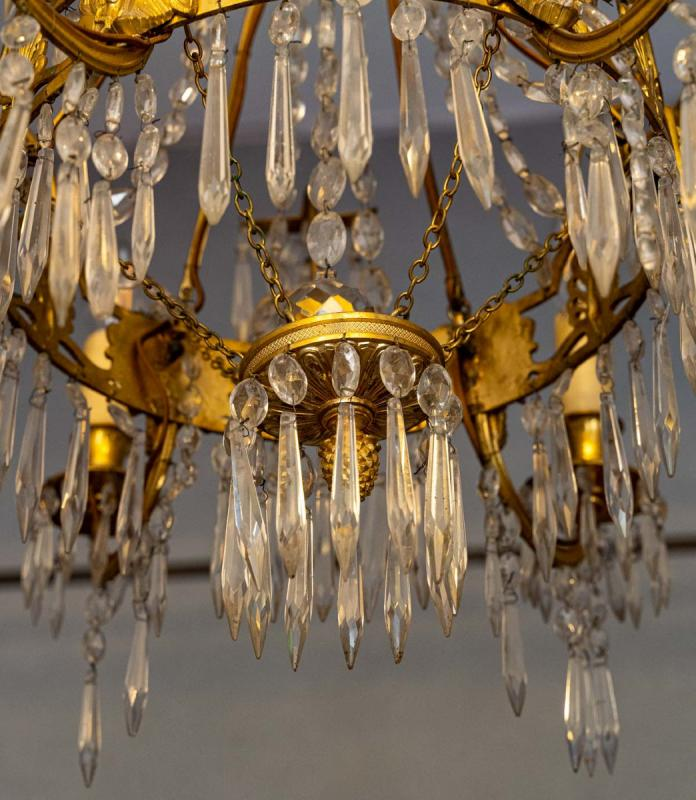 Chandelier Return From Egypt Bronze And Crystal-photo-3