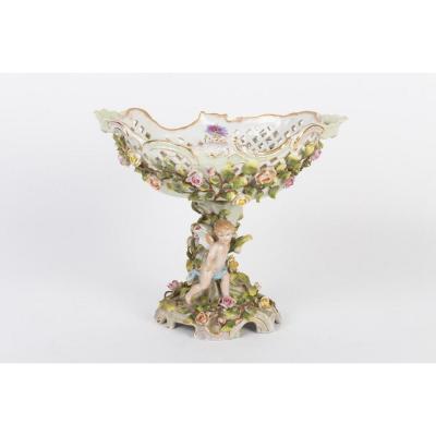 Surtout De Table - Porcelaine De Saxe -  Plaüe Schierholz - 19ème