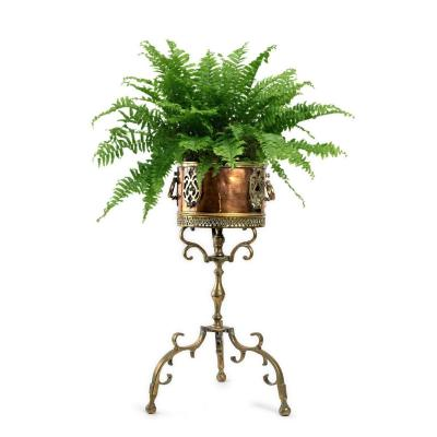 Copper And Brass Plant Holder - Italy - 19th