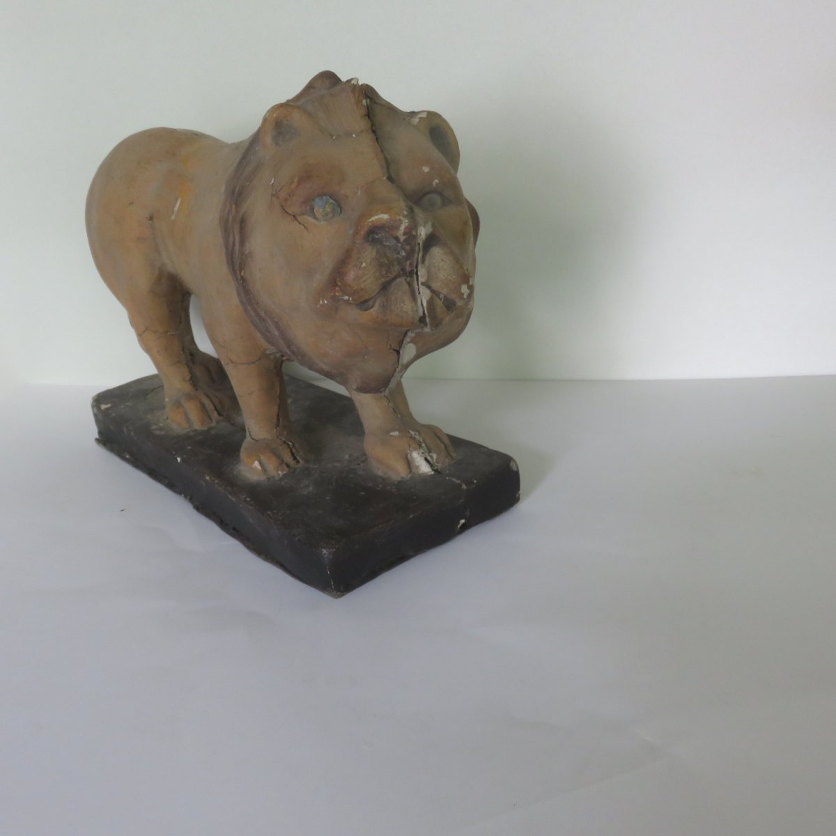 Lion Papier Mache Jouet XIXe-photo-6