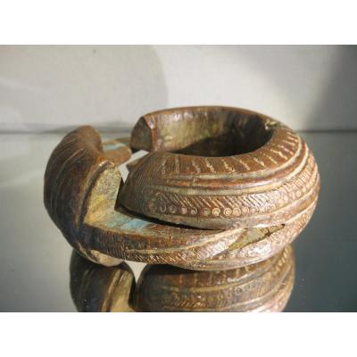 Ancien Bracelet d'Esclave Fulani Bronze Mali Niger